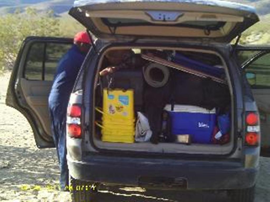 full suv with camping supplies