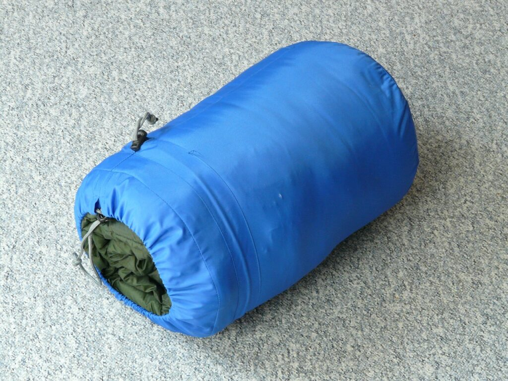 sleeping bag, sleep, rest
