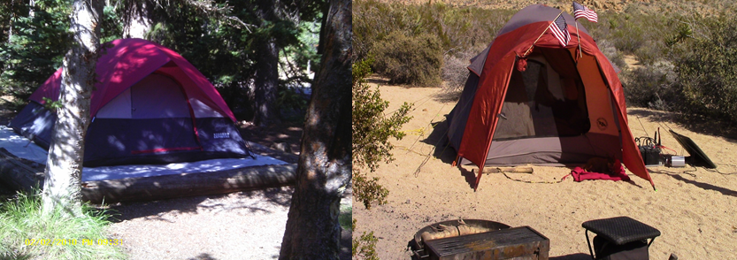 side by side tent images
